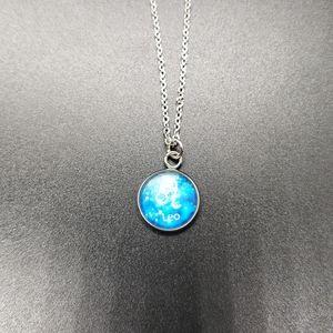 Leo Zodiac Astrology Circle Necklace